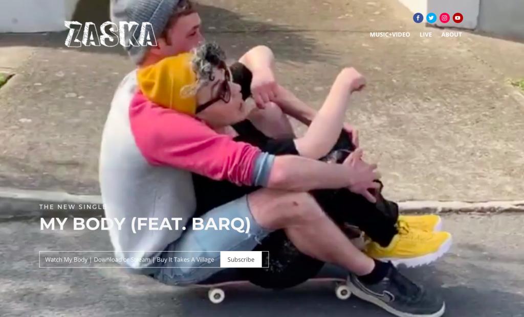 new funky zaska website