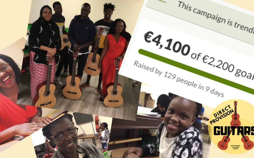 €4100+ Raised for Direct Provision Guitars!
